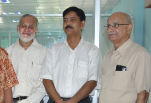 DG(ICAR) & SECRETARY (MOA-GOI) IN LEFT AND HEAD, NAIP, ICAR (IN RIGHT)  WITH MD, SUDHARMA