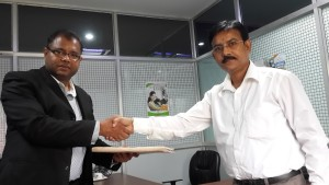 Chairman of ALVI group, Bangladesh and director of Sudharma after signing an MOU