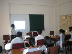 Director is taking class in the RKV university
