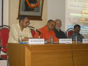 In a seminer on homa farming (Speaker - Dr. ULRICH BERK, jointly conducted by RKMU and Sudharma
