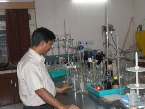 Director in the soil testing laboratory