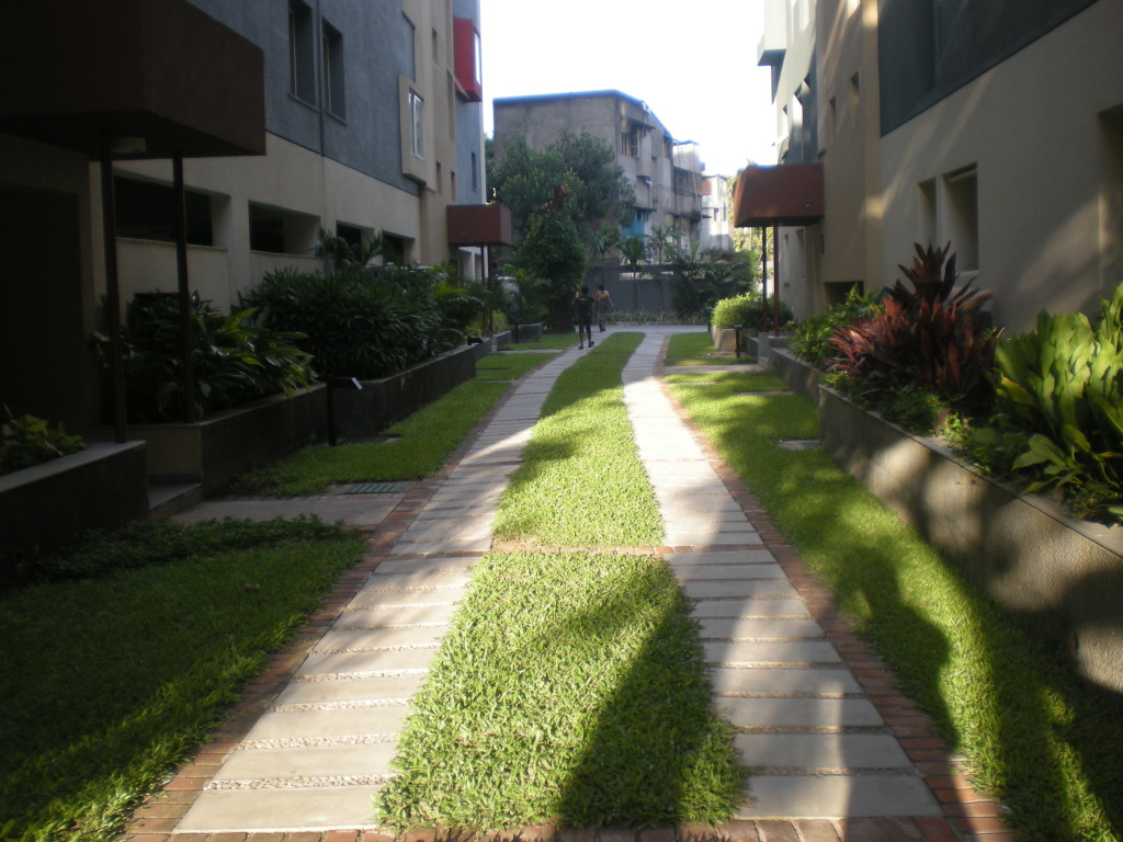 A smart landscaping in a residential complex